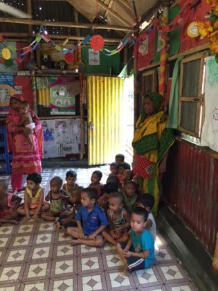 Opvang slums Mirpur